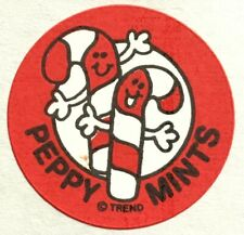 Vintage 80s Matte Trend Scratch & Sniff Sticker - Peppermint - Mint!!