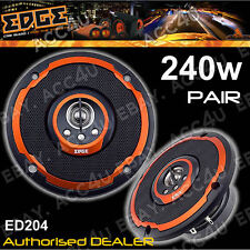 "EDGE ED204 4"" pollici 4-Way 240 W Auto Furgone Porta Mensola Dashboard Coppia Coassiale Altoparlanti"