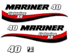 Adesivi motore marino fuoribordo Mariner 40 hp XR 2t