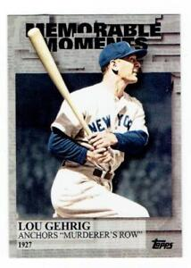 LOU GEHRIG Yankees ~ 2017 Topps Memorable Moments ~ FREE SHIPPING