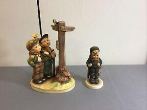 "Group 2 Hummel Figurines #331 ""Crossroads"" & #122 ""Chimney Sweep"" Signed"