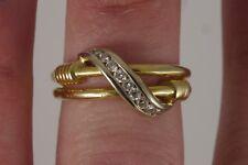 Vintage Estate 14k Yellow Gold Channel Set Diamond Journey Split Shank Ring