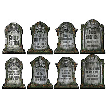 (12) Pkgd Tombstone Cutouts prtd 2 sides w/different designs