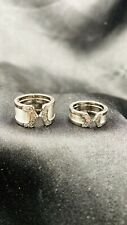 Cartier 18k White Gold Diamond Rings Set Size 45 And 46