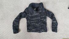 IRO Jacket Boucle Tweed Asymmetrical  Knit Navy Black Ivory 38 $650 Worn Once
