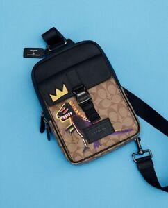 NWT Coach X Jean-Michel Basquiat Track Pack In Signature Canvas C5421