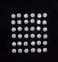 3mm Lot 1,2,5,10pcs Round Diamond Cut Calibrated Natural White ZIRCON
