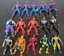 1994 Marvel ToyBiz Die Cast Metal Mini Figures (Lot of 15) SEE PICS