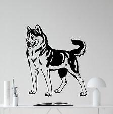 Husky Dog Wall Decal Nursery Pets Poster Vinyl Sticker Animal Decor Mural 39aaa