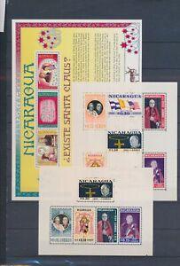 XC89570 Nicaragua christmas historical figures sheets XXL MNH