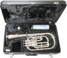 Yamaha Alto Horn Eb 3 Piston Top Action YAH-203S Silver with Case New #4475