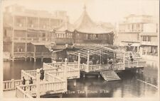 RPPC Willow Tea House Shanghai China Waterfront Early Photo G5
