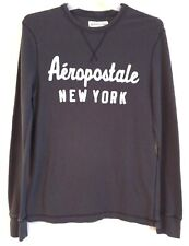 AEROPOSTALE NEW YORK - Gray Cotton Thermal Pull Over Shirt – Men's Size: LARGE