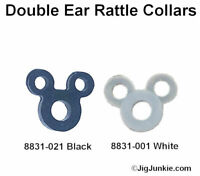 DOUBLE EAR SILICONE JIG RATTLE COLLAR/BANDS  - SHIPS FROM USA