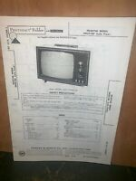Teledyne Model 2M321BG Television Parts List Schematics