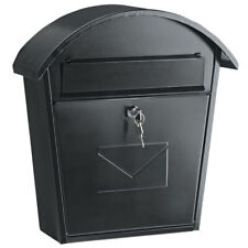 Large Lockable Mail Box With 2 Keys Wall Mounted Metal Outdoor Letter Postbox
