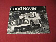 1971 Land Rover Sales Sheet Brochure Booklet Catalog Old Original Book