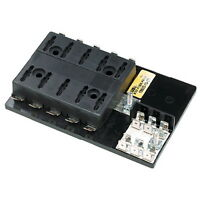 10 Gang ATO or ATC Fuse Block with Negative Common Bus Bar for Boats