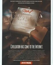 Sid MEIER'S CIVNET Printanzeige/Poster Kunst PC BIG BOX