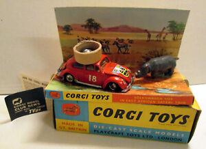 Corgi Toys 256 Volkswagen 1200 East African Safari,     original