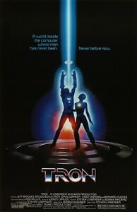 TRON MOVIE POSTER tro001 - CHOOSE SIZE A5-A4-A3-A2-A1 or FRAMED OPTION
