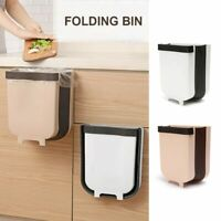 Wall Mounted Folding Waste Bin For Kitchen Cabinet Door Hanging Trash Can