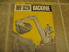 Massey Ferguson MF320 Backhoe Sales Brochure 1960's