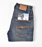 26892 Nudie Jeans Dünn Finn Klassisch Orange Blau Herren Jeans Größe 28/32