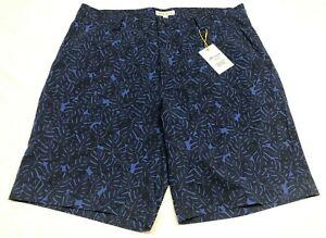 NEW Peter Millar Crown Sport Golf Shorts MS19EP04 Men's Size 33 Floral Navy Blue