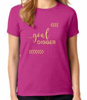 Goal Digger Ladies T-shirt Motivational Gift Women's Tee - 2007C