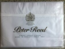 Brand New PETER REED 210 Thread Count 2 Row Cord KING Sheet Set White/White