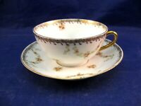 ANTIQUE MINIATURE TEA CUP AND SAUCER - AUSTRIAN CHINA - VERY DELICATE