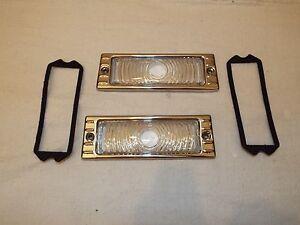 1947 1948 1949 1950 1951 1952 1953 CHEVY TRUCK 2 Park Light Bezels, Lens,Gaskets