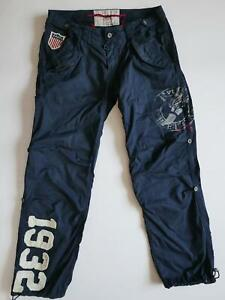 Polo Ralph Lauren Pants Stadium 1932 P Wing USA Patches Canvas RARE Vintage 36