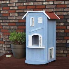 Cat House Bed Shelter Indoor Outdoor Kitten Pet Supplies Scratcn Wood Furniture