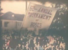 8mm film 62nd Rose Parade / Rose Bowl 1951 Football Halftime Show Band