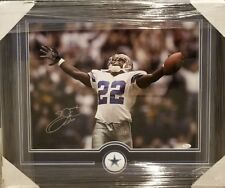 EMMITT SMITH DALLAS COWBOYS  AUTOGRAPHED FRAMED 16 × 20 PHOTO JSA COA