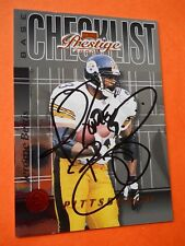 Jerome Bettis, 2000 Playoff Autographed Football card # 124, Steelers, RB