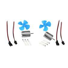 2x Mini Wind Generator Blade Motor Micro Wind Turbines Generator Set Kits