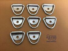 8 X TIE DOWN LEGATURA Anello e tacchetta Horsebox Van camion rimorchio (solo dell' anello)