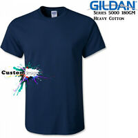 Gildan T-SHIRT Navy Blue Basic tee S M L XL 2XL XXL big Men's Heavy Cotton