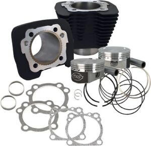 S&S Cycle 1250cc Conversion Kit - Compression 10.3:1 - Wrinkle Black