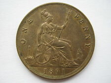 1891 Queen Victoria Penny UNC