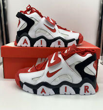 Nike Air Barrage Mid AT7847-102  White University Red Mens Shoes