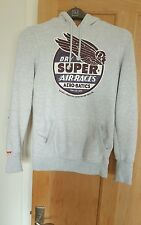 AUTHENTIC SUPERDRY SIZE S GREY HOODIE
