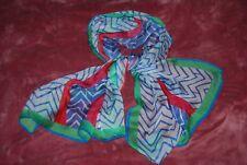 UNGARO Écharpe en mousseline de soie 100% multicolore