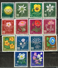 Switzerland Flora Flowers set 14 stamps 1940s MNH/MLH