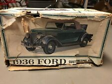 Amt 1:25 1936 Ford Customizing Car Model Kit Rare!