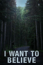 Bigfoot I Want To Believe Poster Print, 13x19