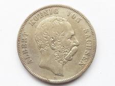 H559     SACHSEN 5,- Mark 1876